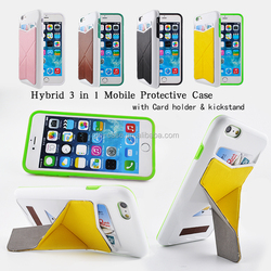 functional phone case cover for iPhone 6 plus 360 housing leather case