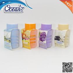 136g bulk car air fresheners/attractive design solid gel air freshener/decorative air freshener