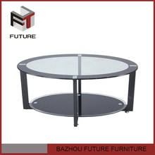 supermarket furniture ellipse oval glass top coffee table for sale