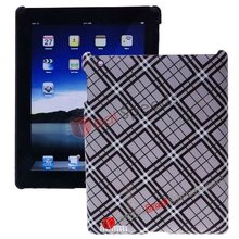 Tartan Designer Hard Case Cover for iPad 2(Grey)