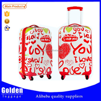 Outdoor international travel trolley luggage with wheels, wholesale luggage trolley bags hard shell abs luggage suitcase