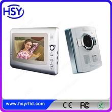 home security system 7inch TFT screen Commax intercom video peephole door camera