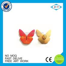 Animal shape cheap custom metal printed clothes lapel pin