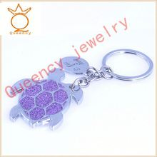 Oval shape customize metal key chain with car laser logo