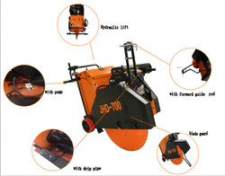 Asphalt And Concrete Cutting Machine with max cutting depth 250mm and kohler engine for road construction
