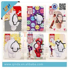 Baymax stand pu leather case for iPad air 2 baymax flip case