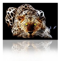 Leopard Fantastic Canvas Wall Picture Frames for Living Room