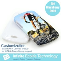 free samples available,custom 3D hard shell cover case for blackberry 9900