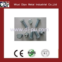 4.8, 8.8 quality low price hexagon head bolts supplier