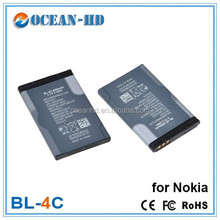 China battery manafactuer bl-4c 3.7v 800mah mobile phone battery for nokia 6300 6136 6102i 6170 6260