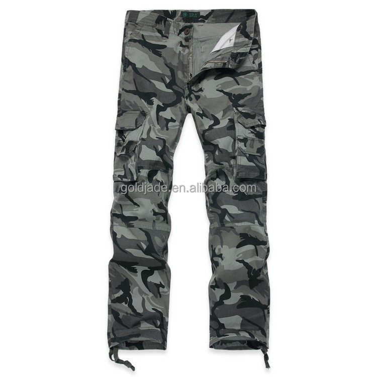 Model Camouflage Women Military Cotton Belted Cargo Pants