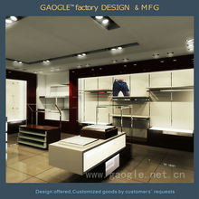 Good quality clothes shop interior design with led spot lights