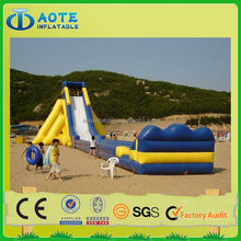 Giant 50m hippo inflatable water slide for sale with high quality