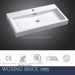China factory highly polished resin washing basin with drainer