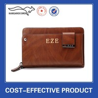 Factory wholesale large volume genuine leather men clutch bag