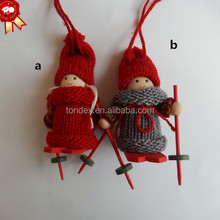 Christmas ornaments santa doll as gifts
