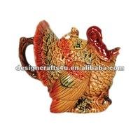 decorative ceramic thanksgiving turkey
