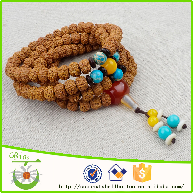 Rudraksha naturelle perles népal ethnique bijoux gros