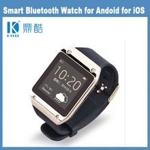 Android smart watch bluetooth Smart Watch 2014 with GPS Watch Phone Android Bluetooth Smartwatch Leather Strap Metal Steel Watch