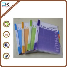 Spiral plastic consice clear notebook