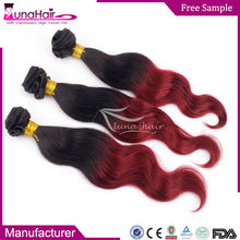 mixed color remy hair extensions, 100% virgin indian body wave human hair