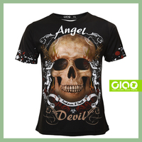 Black and Skull design with contract manufacturing plain and sure t-shirt
