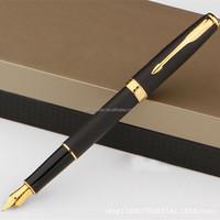 2015 gift box packing best selling luxury black metal fountain pen