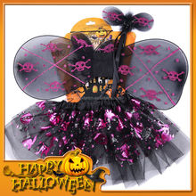 HWT-1009 discount fashion clothes and wings for halloween, kids fashion designer set