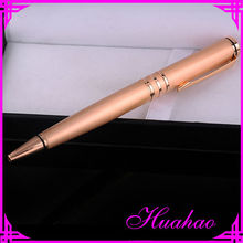 high quality pink gold plated promotional metal ball pen