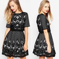 Juhai 3452 lace designs black women party wear handmade embroidery dresses