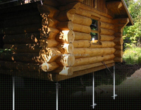 Helical piles for construction and building foundation