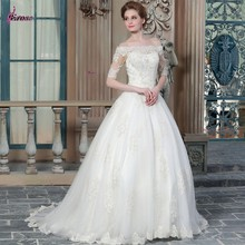 MGA-028 2015 Elegant lace Half sleeve Alibaba Wedding Dress
