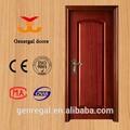 Nuevo diseño de interiores de madera maciza de madera de la puerta del dormitorio, puertas de interior