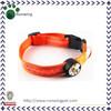 Orange Adjustable Flashing Glow LED Dog Collar