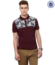 High quality new design printing brand polo t shirts for men