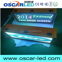 Weatherproof taxi top advertasing led display screen signs full color outdoor 3G/wifi wireless bus/car/truck roof led