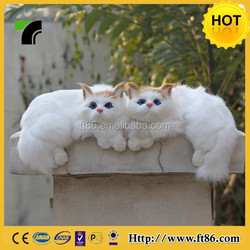 China factory wholesale handmade furry toy cats that look real