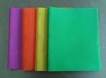 A4 Sun Vein 3 Metal Prong Portfolio,Plastic File Holder with 2 pocket