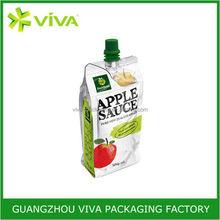 Top grade reusable fresh juice aluminum foil spout pouch