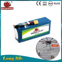 20000mAh 22.2V 25C 6S lipo battery for quadcopter DJI S800 / DJI S1000 other uavs lipo battery pack