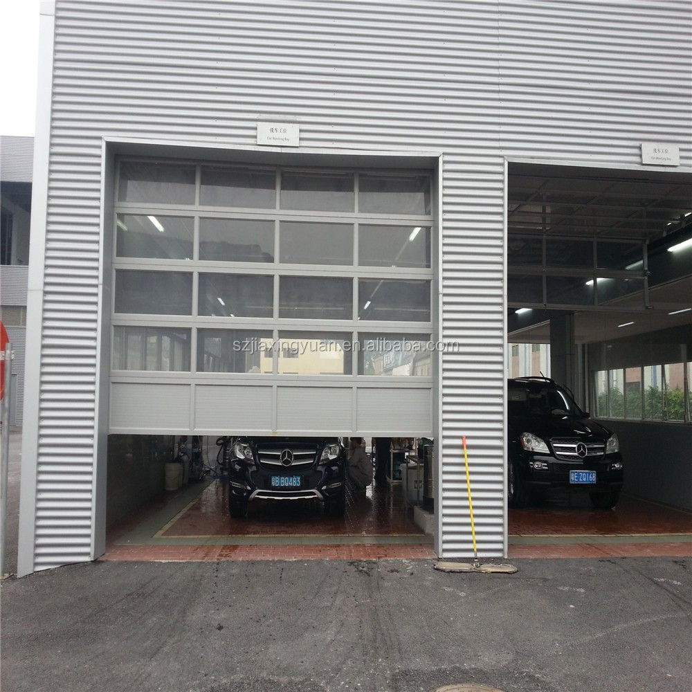 alluminio sezionali coibentati trasparente di vetro porta del garage-Porta-Id prodotto ...