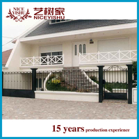 2015 new models galcanized cast iron square tube antique iron gates rod iron gates ornamental garden gates