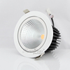 Rotatable recessed power dimmable 20W 30w 40W COB led downlight/ led ceiling downlight Retail shop fixture