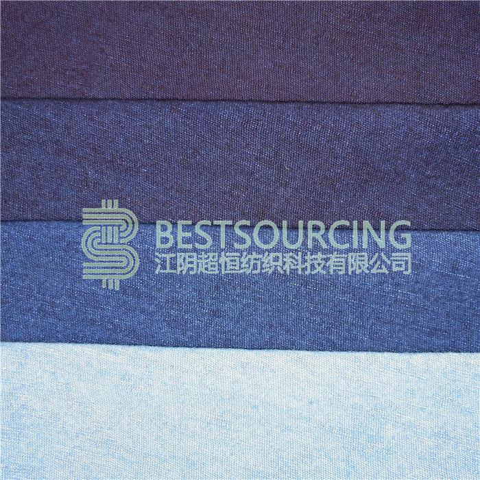 indigo yarn dyed knit denim
