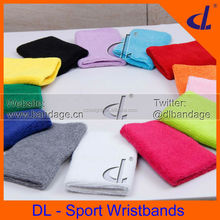 Cotton Sports Wristband Sweatband 8cm*12cm (1 pair/ Lot= 2 pcs) Wrist Support Protector Basketball/Tennis/Badminton