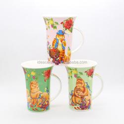 birds design ceramic mug cup for water