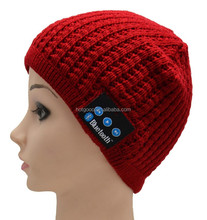 2015 popular products Knitting Basketball wireless music slouchy beanie hat with headset gift for smartphone