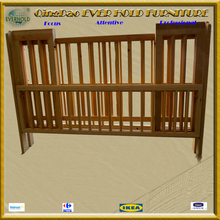 high quality EH-4013 painted wooden hospital handmade antique baby cribs