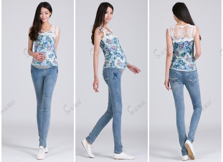 Как сделать из джинс джинсы для беременной
