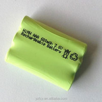 Rechargeable 3.6V 600mah NI-MH battery pack AAA size batteries